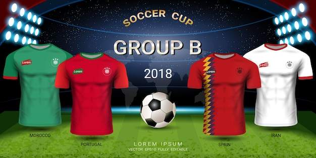 Soccer jersey football cup 2018 team group b