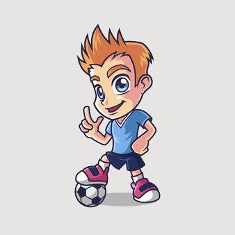 Soccer player kid