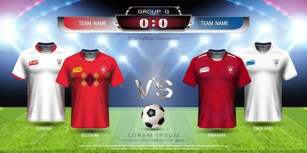 Soccer team 2018 gruppo di gruppo g