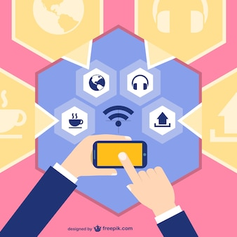 Social media dispositivo smartphone touch