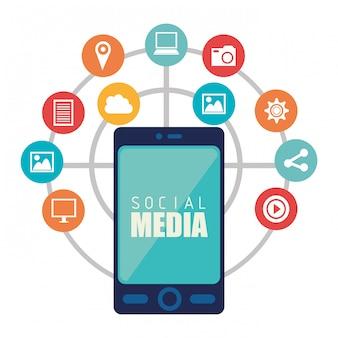 Social media entertainment design grafico