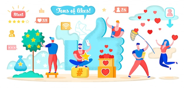 Social media marketing, reazione degli utenti di attrazioni.