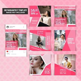 Social media shopping pack per instagram