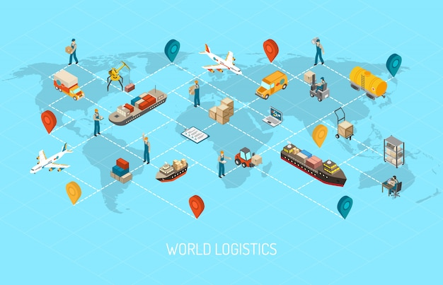 Società internazionale di logistica in tutto il mondo