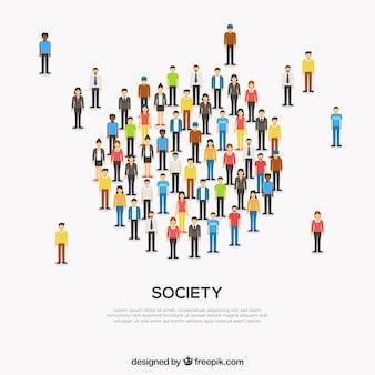 Società moderna che forma un cerchio