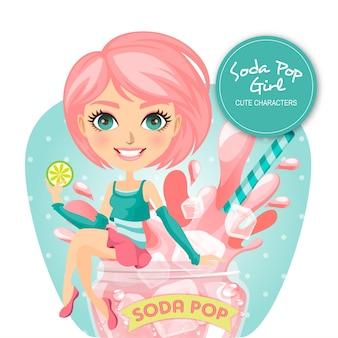 Soda pop girl character