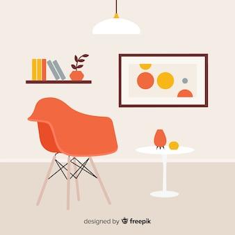 Soggiorno moderno con design piatto