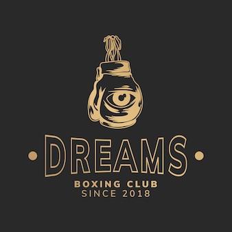 Sogna l'illustrazione del club di boxe