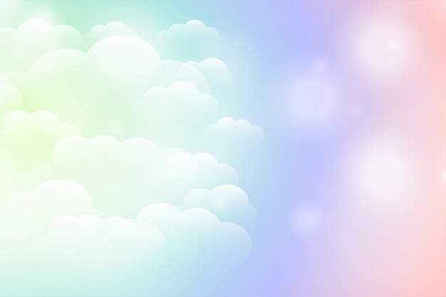 Sognante magico sfondo di nuvole lucenti in colori vivaci