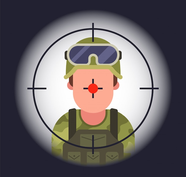 Soldato in vista di un cecchino.
