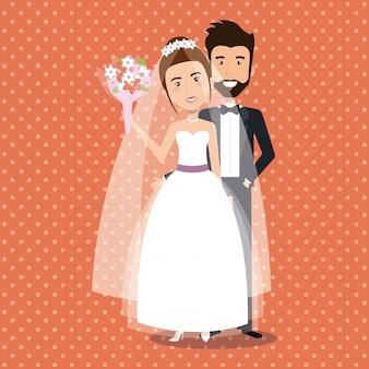 Solo personaggi della coppia di sposi