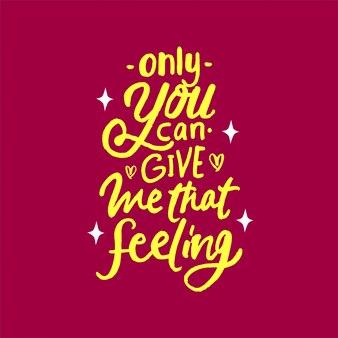 Solo tu puoi darmi quella frase lettering motivazione citazione