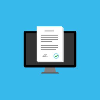 Sondaggio online nell'icona del computer