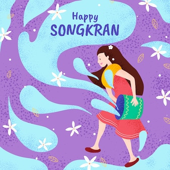 Songkran disegnato a mano