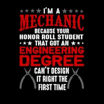 Sono un meccanico per il tuo onore