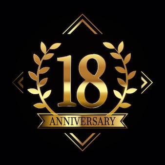 Sontuoso logo del diciottesimo anniversario