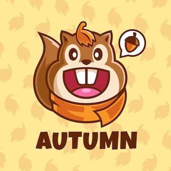 Sorridente scoiattolo personaggio dei fumetti illustrazione