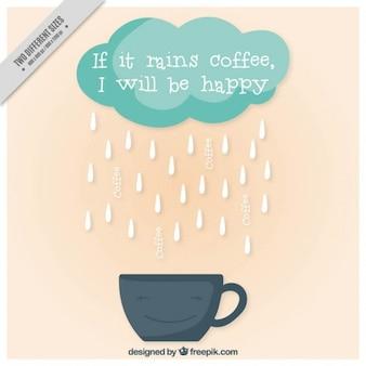 Sorridente tazza con un messaggio felice