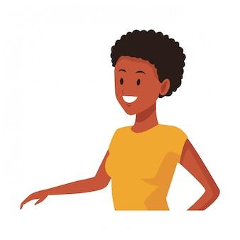 Sorridere afroamericano della donna