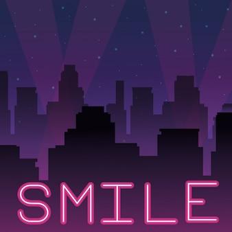 Sorridi pubblicità al neon