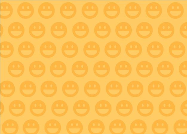 Sorridi sullo sfondo. emoji sorride su sfondo giallo.