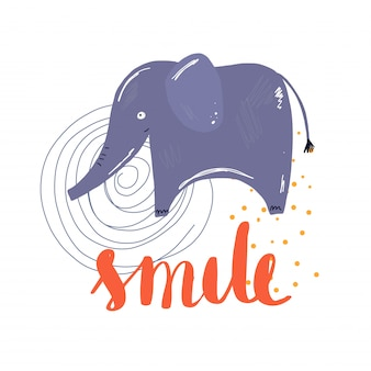 Sorriso alephant vettoriale