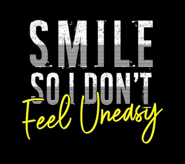 Sorriso illustrazione tipografia