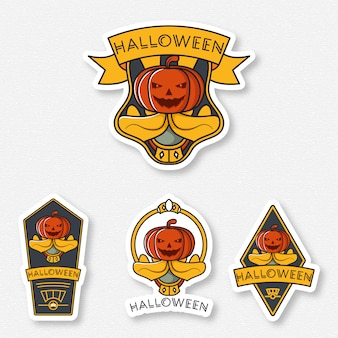 Sorriso set di badge di halloween