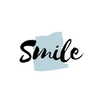 Sorriso tipografia o logo vettoriale