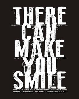 Sorriso tipografia per t-shirt stampata