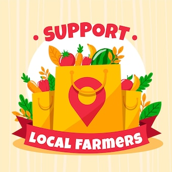 Sostieni gli agricoltori locali illustrati