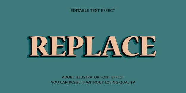 Sostituisci carattere modificabile effetto testo vettoriale