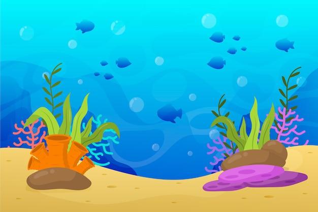 Sotto il disegno di sfondo del mare