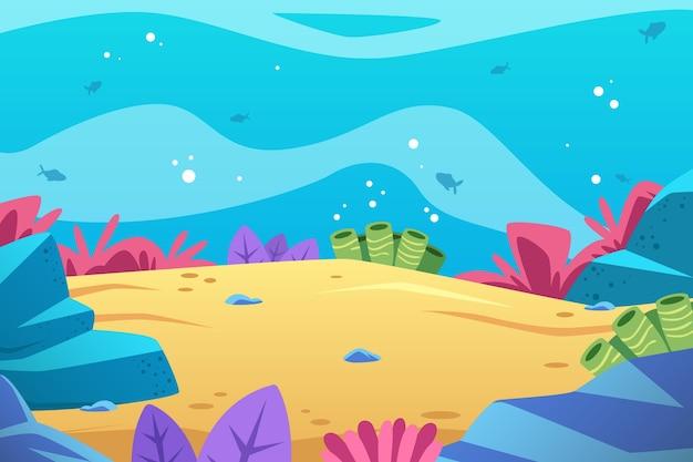 Sotto lo sfondo del mare per le videoconferenze