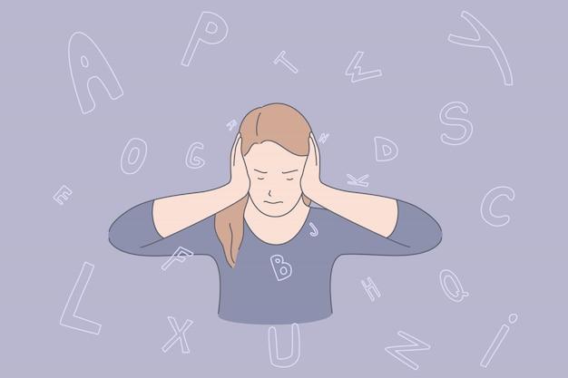 Sovraccarico di informazioni, esaurimento mentale, concetto di burnout professionale