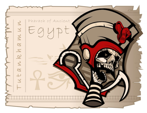 Sovrano tutankhamon dell'antico egitto