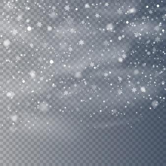 Sovrapposizione di neve che cade