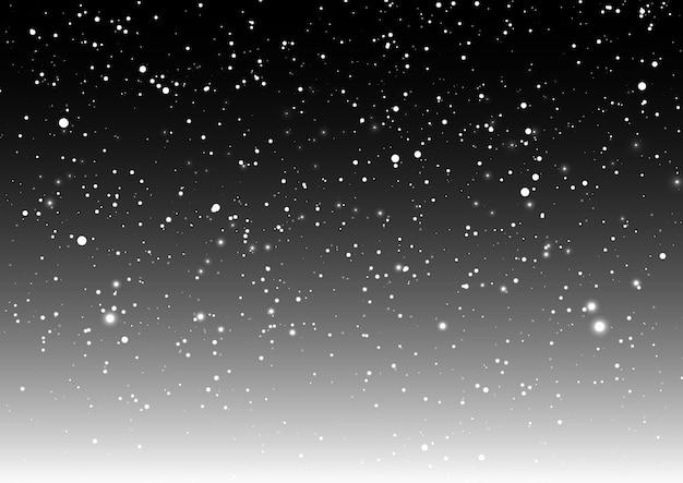 Sovrapposizione di neve di natale