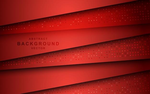 Sovrapposizione di strati di sfondo rosso con effetto luccica