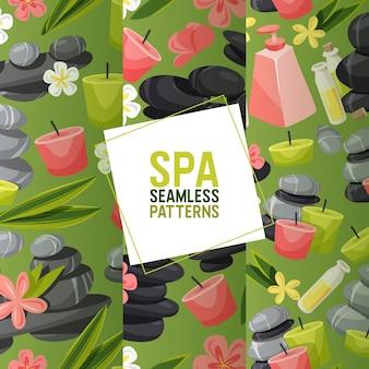 Spa stone seamless pattern zen pietroso terapia per bellezza salute e relax