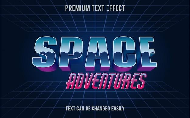 Space adventures effetto testo
