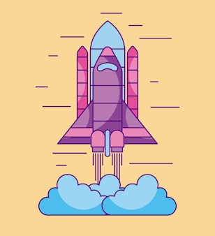 Space shuttle lancia l'esplorazione cosmica