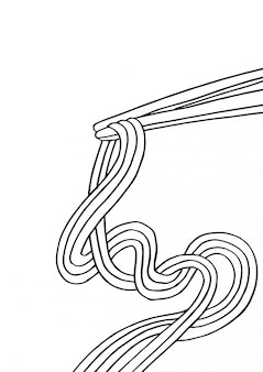 Spaghetti cinesi e bacchette