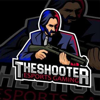 Sparatutto logo per giochi a marchio esports
