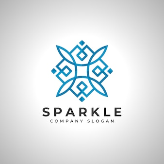 Sparkle abstract square logo vector