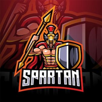 Spartan esport mascotte logo design
