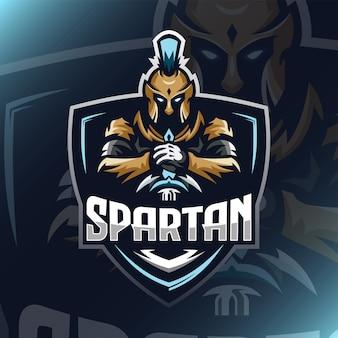 Spartan warrior logo esport