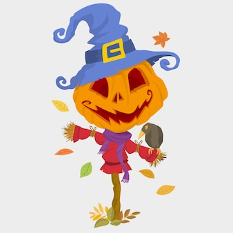 Spaventapasseri spaventoso di halloween