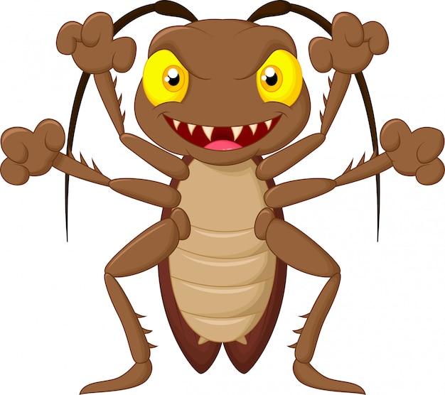 Spaventoso fumetto di scarafaggio