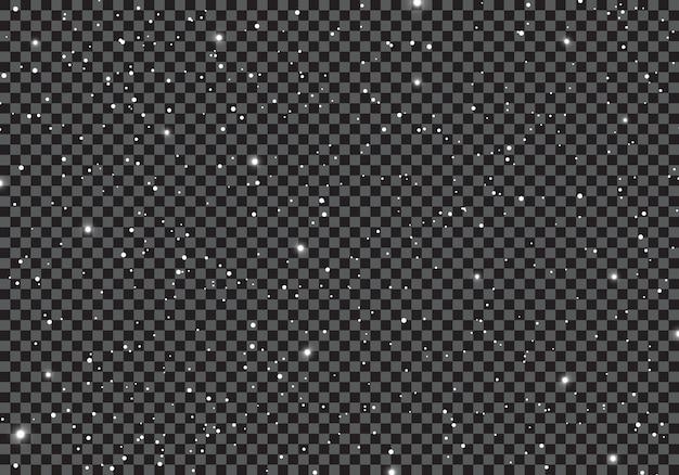 Spazio con l'universo di stelle su sfondo trasparente.